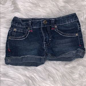 Vigoss Little Girls Floral Jean Shorts